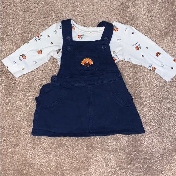 Baby girls 3 month Thanksgiving dress outfit
